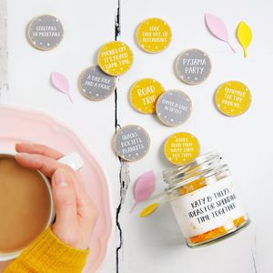 Personalised Friendship Date Ideas Jar - decorative accessories