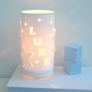 Personalised Mixed Stars Night Light - children's lighting