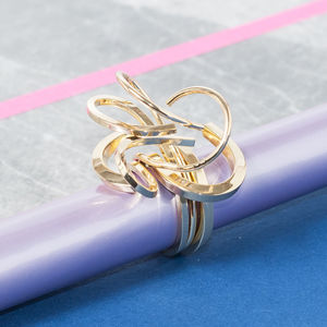 Galaxy Cocktail Ring In Gold, Silver And Rose Gold