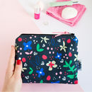 Makeup Bag In Midnight Floral Print