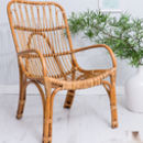Wicker Bamboo Chair Garden