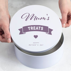 Personalised Mothers Day Treat Tin - baking tins