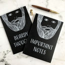 Personalised Bearded Men Notebook