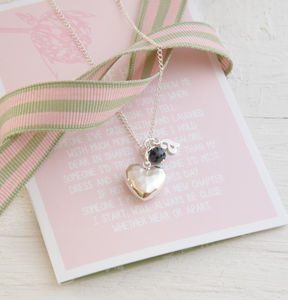 Personalised Bridesmaid Silver Heart Necklace - new in wedding styling