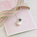 Personalised Bridesmaid Silver Necklace With Verse