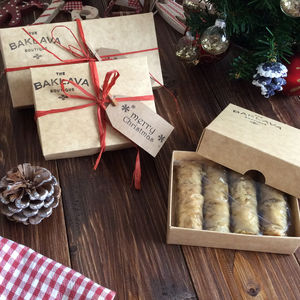 Pistachio Baklava Gift Box - christmas food & drink