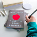 Personalised Metallic 'Apple For The Teacher' Notebook