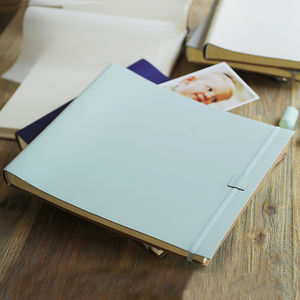 Extra Large Leather Baby Boy Photo Album - new baby gifts