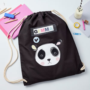 Girls Personalised Panda Bag - children's storage