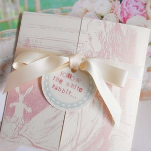 Adorable Alice Folded Invitation Set - invitations