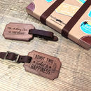 Personalised Wood Luggage Tags Wedding