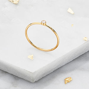 Small Gold Or Silver Diamond Style Stacking Ring - rings