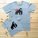 Super Dad Child Grey Marl Gorilla T Shirt