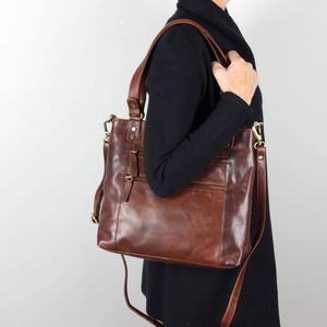 Mayfair Multi Zip Pocket Handbag