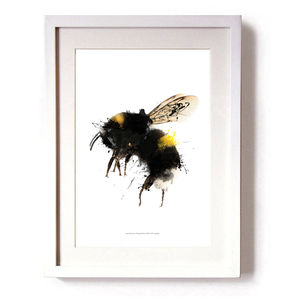 Bee Ink Splash Limited Edition Signed Print