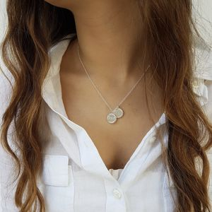 Framed Silver Initial Necklace