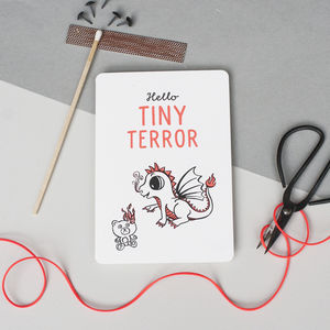 'Hello Tiny Terror' New Baby Card