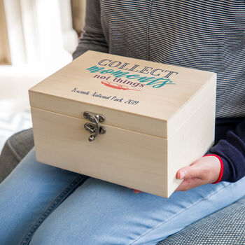 Personalised Collect Moments Not Things Keepsake Box