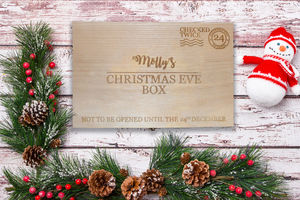 Personalised Laser Engraved Christmas Eve Box - christmas eve