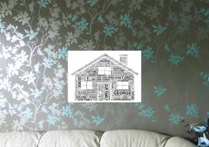 Personalised House Word Art Print