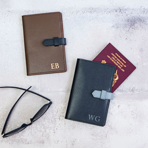 Two Tone Luxury Leather Passport Cover - gifts for him