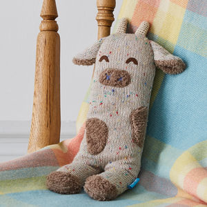 Super Soft Curtis Cow Knit Toy