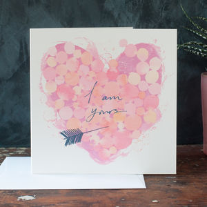 A Romantic Valentine Heart Card