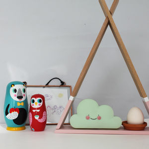 Miniature Smiling Cloud Night Light - children's room accessories
