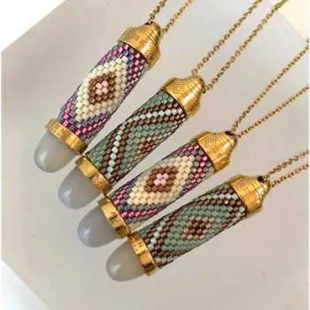 Navajo Beaded Bullet Necklace