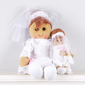 Bride And Bridesmaid Rag Dolls - flower girl gifts