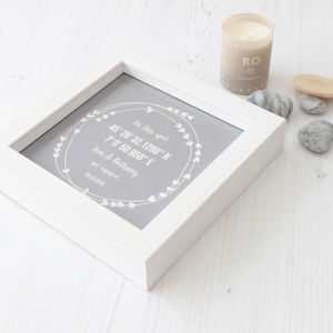 Personalised Coordinates Engagement Gift - sale
