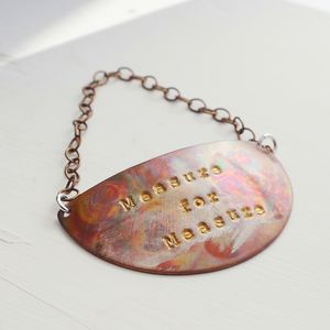 Personalised Cosmos Copper Bottle Tag Boxed