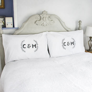 Personalised Couples Initials Pillow Case