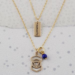 Third Eye Chakra Necklace In Gold Or Silver - jewellery sale