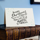 To My Auntie And Uncle Letterpress Christmas Card
