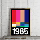 1980s Block Screen Personalised Year Print
