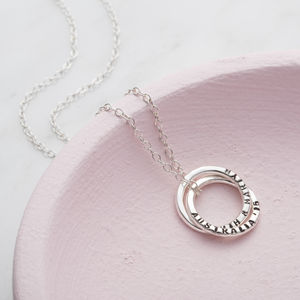 Personalised Interlinking Russian Necklace - necklaces & pendants
