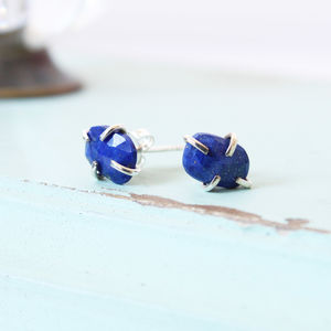 Gemstone Stud Earrings - earrings