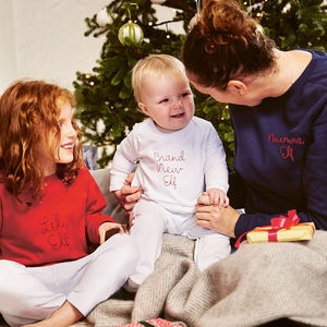 Embroidered Family Elf Christmas Jumper Set - christmas jumpers