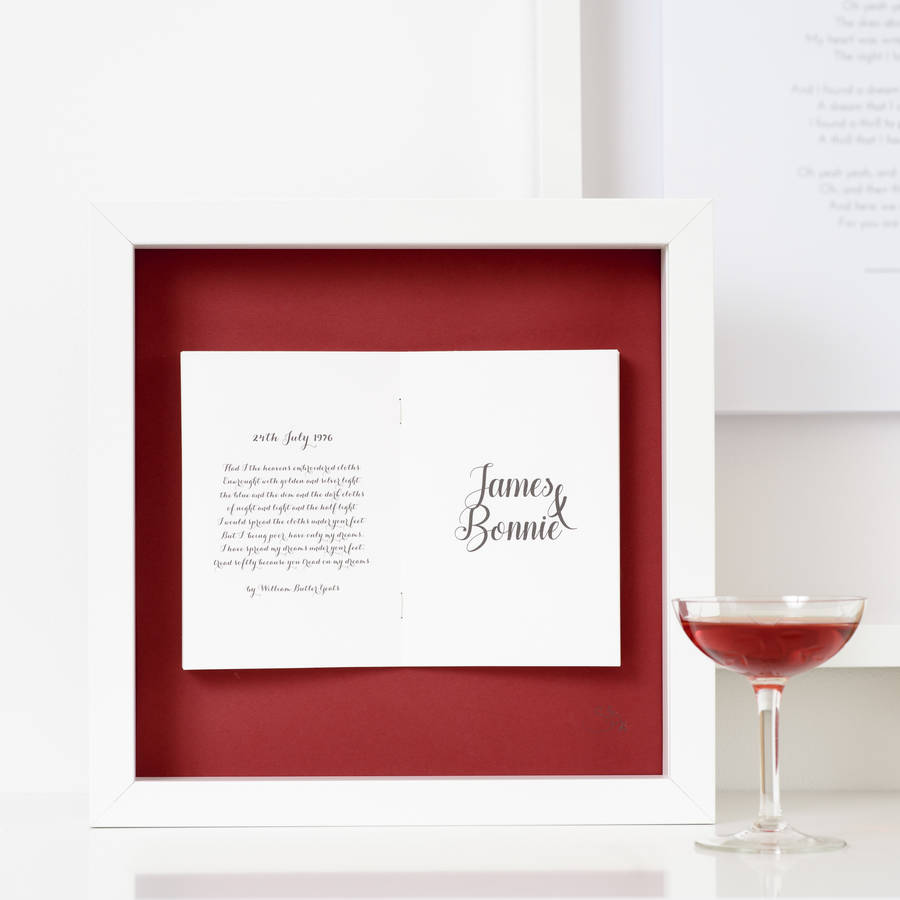 Ruby Wedding Anniversary Personalised Frame