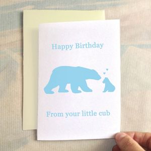Personalised Birthday Bearcub Birthday Card - birthday cards