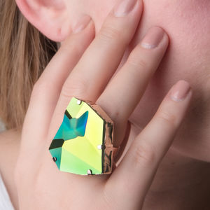 Crystal Statement Ring - rings