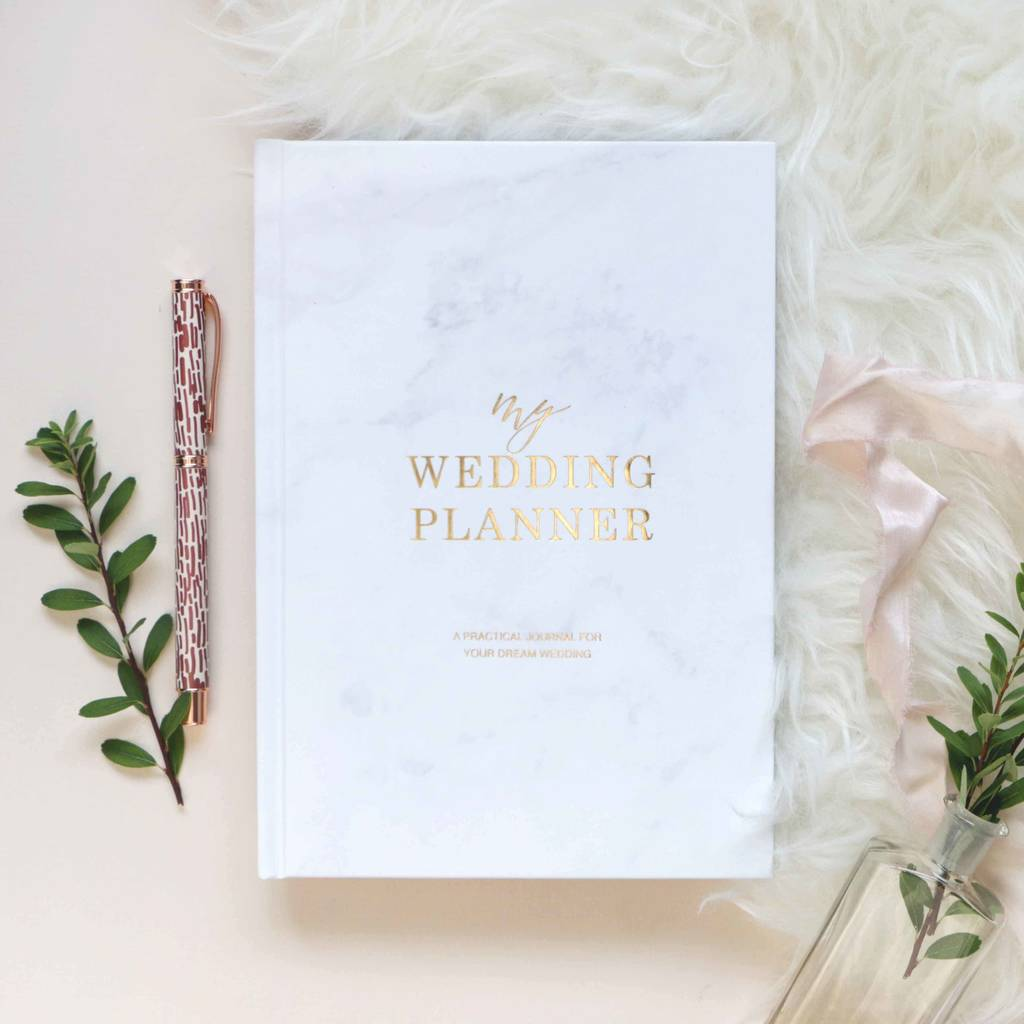 Marble And Gold Foil Wedding Planner