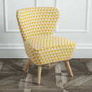 Retro 1950s Patterned Cocktail Chair