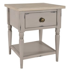 Warwickshire Lamp Table Grey Or Ivory - side tables