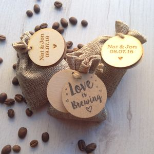 Personalised Coffee Wedding Favours - teas, coffees & infusions