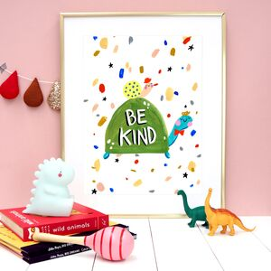 Be Kind Tortoise Typography Print