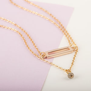 Double Chain Gold Layered Necklaces