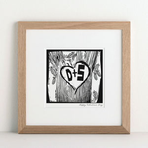 Personalised Woodcut Print - shop by price