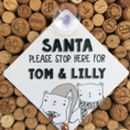 Santa Please Stop Here Personalised Sign